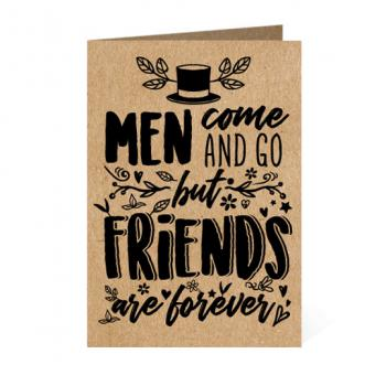 Friends are forever - Thiệp giấy Kraft TP10